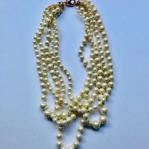 J. Crew Multi Strand Faux Pearl Necklace